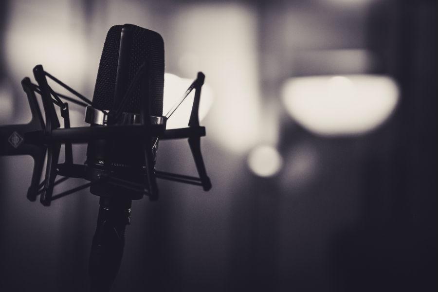 Microfono in dotazione alla casa di produzione audio video Keymotions